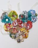 Καρδιά κορσάζ λουλουδιών εγγράφου Στοκ Εικόνες