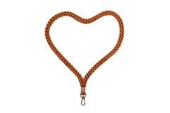 Καρδιά κορδονιών με το γάντζο Στοκ φωτογραφίες με δικαίωμα ελεύθερης χρήσης