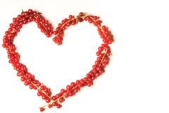 Καρδιά κόκκινων σταφίδων Στοκ φωτογραφίες με δικαίωμα ελεύθερης χρήσης