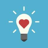 Καρδιά μέσα στη λάμπα φωτός Στοκ Φωτογραφία