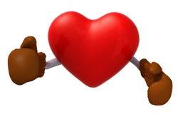 Καρδιά με τα εγκιβωτίζοντας γάντια Στοκ Εικόνες