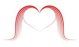 Καρδιά με τα φτερά Στοκ εικόνα με δικαίωμα ελεύθερης χρήσης