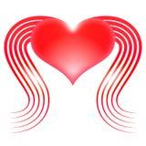 Καρδιά με τα φτερά Στοκ Εικόνα