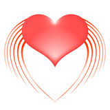 Καρδιά με τα φτερά Στοκ φωτογραφία με δικαίωμα ελεύθερης χρήσης