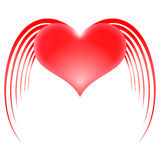 Καρδιά με τα φτερά Στοκ Εικόνες
