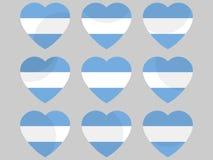 Καρδιά με τη σημαία της Αργεντινής argentina can generation glacier hemisphere hope i love next our s see southern διάνυσμα Στοκ Εικόνες