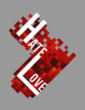 Καρδιά με τις επιστολές Στοκ Φωτογραφία