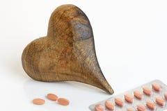 Καρδιά με τις ταμπλέτες Στοκ εικόνα με δικαίωμα ελεύθερης χρήσης