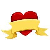 Καρδιά με το κενό έμβλημα Στοκ Φωτογραφία