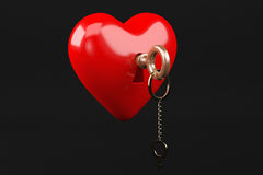 Καρδιά με το κλειδί Στοκ φωτογραφίες με δικαίωμα ελεύθερης χρήσης
