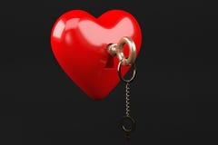 Καρδιά με το κλειδί Στοκ Εικόνες