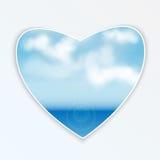 Καρδιά με το φυσικό σχέδιο Στοκ εικόνα με δικαίωμα ελεύθερης χρήσης
