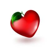 Καρδιά με το φύλλο Στοκ Εικόνες