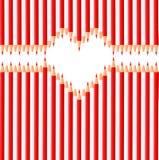Καρδιά μολυβιών διανυσματική απεικόνιση