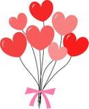 καρδιά μπαλονιών που διαμ& Στοκ Εικόνες