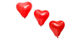 καρδιά μπαλονιών Στοκ Εικόνες