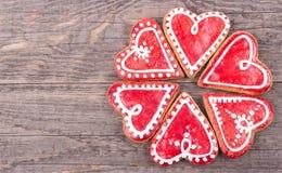 Καρδιά μπισκότων μελοψωμάτων Στοκ εικόνες με δικαίωμα ελεύθερης χρήσης