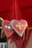 Καρδιά μπισκότων μελοψωμάτων Στοκ Φωτογραφία