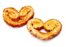καρδιά μπισκότων που διαμ&om Στοκ Εικόνα