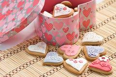 καρδιά μπισκότων Στοκ Φωτογραφίες