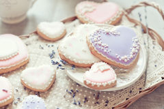 Καρδιά μπισκότων Στοκ εικόνες με δικαίωμα ελεύθερης χρήσης