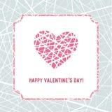 Καρδιά μωσαϊκών Απεικόνιση για την ημέρα βαλεντίνων Αγίου Ελεύθερη απεικόνιση δικαιώματος