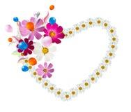 Καρδιά λουλουδιών, που απομονώνεται Στοκ Φωτογραφίες