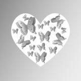 Καρδιά πεταλούδων Στοκ φωτογραφία με δικαίωμα ελεύθερης χρήσης