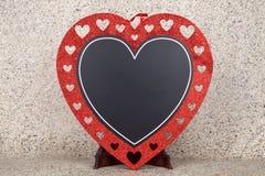 Καρδιά πινάκων κιμωλίας Στοκ Εικόνες