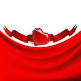 καρδιά πλαισίων υφασματ&epsilo Στοκ φωτογραφία με δικαίωμα ελεύθερης χρήσης
