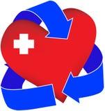 καρδιά που ανακυκλώνετ&alph Στοκ Φωτογραφία
