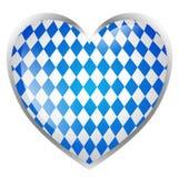 Καρδιά που απομονώνεται βαυαρική Στοκ Εικόνα