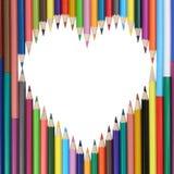 Καρδιά που γίνεται από την αγάπη μολυβιών Στοκ Εικόνες