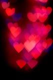 Καρδιά που διαμορφώνεται bokeh Στοκ Εικόνες