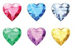 Καρδιά που διαμορφώνεται brilliants, καμία κλίση Στοκ εικόνες με δικαίωμα ελεύθερης χρήσης