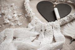 Καρδιά που διαμορφώνεται dreamcatcher Στοκ Φωτογραφίες