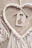 Καρδιά που διαμορφώνεται dreamcatcher Στοκ Φωτογραφία