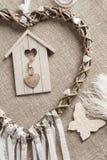 Καρδιά που διαμορφώνεται dreamcatcher Στοκ φωτογραφία με δικαίωμα ελεύθερης χρήσης