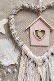 Καρδιά που διαμορφώνεται dreamcatcher Στοκ Εικόνα