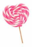 Καρδιά που διαμορφώνεται lollipop Στοκ Φωτογραφία