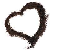 Καρδιά που κάνει από το χώμα Στοκ εικόνα με δικαίωμα ελεύθερης χρήσης