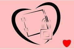 καρδιά που κλειδώνεται Στοκ φωτογραφία με δικαίωμα ελεύθερης χρήσης