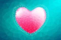 Καρδιά πολυγώνων αφηρημένο διάνυσμα αγάπης &alph Στοκ εικόνα με δικαίωμα ελεύθερης χρήσης