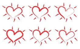 Καρδιά πυράκτωσης Στοκ Φωτογραφία