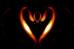 Καρδιά πυρκαγιάς Στοκ Εικόνες