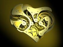 καρδιά ρολογιών που διαμορφώνεται Στοκ εικόνα με δικαίωμα ελεύθερης χρήσης