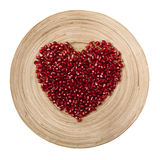 Καρδιά ροδιών στο άσπρο υπόβαθρο Στοκ εικόνα με δικαίωμα ελεύθερης χρήσης