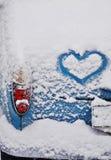 Καρδιά σε ένα αυτοκίνητο Στοκ Εικόνες