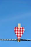 Καρδιά σε ένα καλώδιο Στοκ φωτογραφίες με δικαίωμα ελεύθερης χρήσης