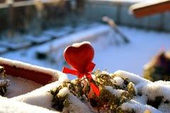 Καρδιά σε ένα χιόνι Στοκ Εικόνα